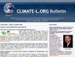 The issue No. 4 of the CLIMATE-L.ORG Bulletin features an essay by Yvo de Boer, Executive Secretary, UN Framework Convention on Climate Change (UNFCCC), entitled, With the global house on fire, there is no time to lose at the UN Climate Change Talks in Accra.