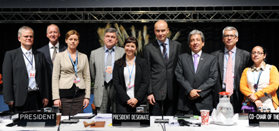 Members of the UNFCCC Secretariat, and the COP 19 and COP 20 Presidency teams