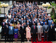 Executive Director of UNEP, Achim Steiner, poses for a photo with President of Kenya, Uhuru Kenyatta, Prince Albert II of Monaco, and ministers, heads of delegation and UN executive officers at UNEA's high level segment