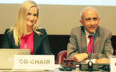 L-R: Co-Chairs Magda Gosk, Poland and Prakash Kowlesser, Mauritius