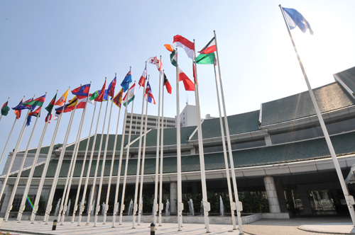 The UN Conference Center in Bangkok, Thailand.