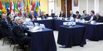 Heads of IICA, CIP, CIAT, CIMMYT, and IFPRI