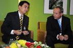 Prime Minister of Thailand, Abhisit Vejjajiva, and UNFCCC Executive Secretary Yvo de Boer