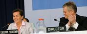 UNFCCC Executive Secretary Christiana Figueres and Halldór Thorgeirsson, UNFCCC Secretariat