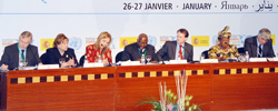 L-R: Lennart Bage, Anne Veneman, Josette Saheeran, Jacques Diouif, Peter Power, Ngozi N. Okonjo-Iweala and Luis Riera.