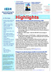 UNISDR Releases ISDR-Highlights January Issue