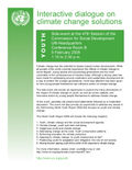 Interactive dialogue on climate change solutions